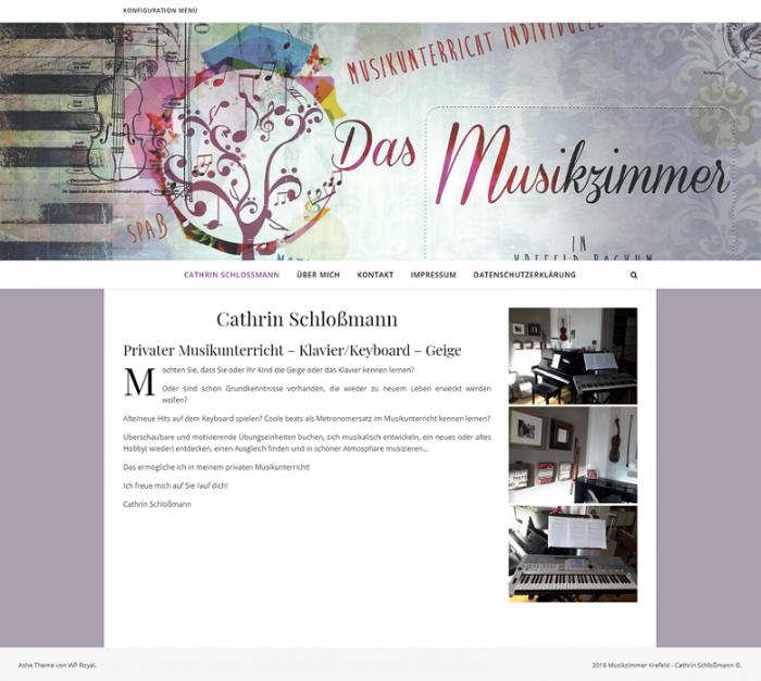 Cathrin Schloßmann - Musikzimmer Krefeld